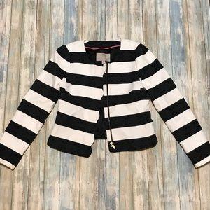 Banana Blazer Black & White Stripe Size 4